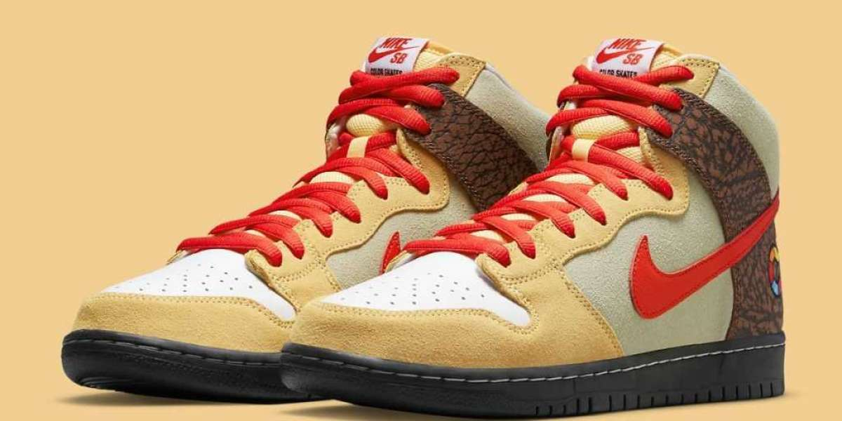 """New 2021 Color Skates x Nike SB Dunk High """"Kebab and Destroy"""" Sneakers"""