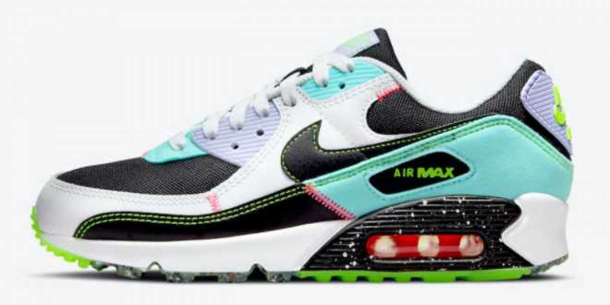 "2021 New Nike Air Max 90 ""Exeter Edition"" Black/White-Aurora Green-Black DJ5922-001 Sell cheap!"